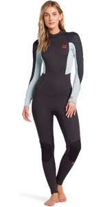 2021 Billabong Womens Launch 3/2mm Back Zip Flatlock Wetsuit 043G19 - Antique Black