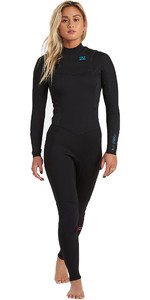 2021 Billabong Womens Synergy 5/4mm Chest Zip GBS Wetsuit U45G34 - Black