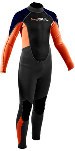 2020 GUL Junior Response 3/2mm Back Zip Wetsuit RE1322-B7 - Grey / Orange