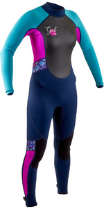 2020 GUL Junior Response 3/2mm Back Zip Wetsuit RE1323-B7 - Navy / Rouge
