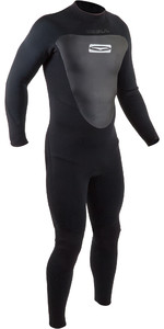 2020 Gul Homens 4/3mm Response Back Zip Wetsuit Re1246-b7 - Preto