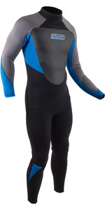 2020 GUL Mens Response 5/3mm Back Zip Wetsuit RE1213-B8 - Black / Blue