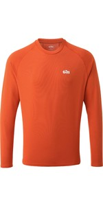 2020 Gill Mens Millbrook Long Sleeve Crew Top 1108 - Orange