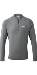 2021 Gill Mens Millbrook Zip T-Shirt 1107 - Steel Grey