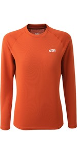 2020 Gill Womens Millbrook Long Sleeve Crew Top 1108W - Orange