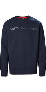 2021 Musto Mannen Evolution Logo Crew Jumper 82.042 - True Navy