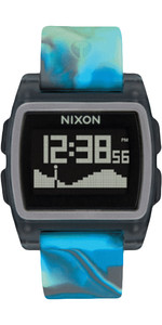 2020 Nixon Base Maré Watch A1104 - água-viva Azul