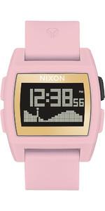 2020 Nixon Base Maré Relógio A1104 - Rosa Suave / Ouro