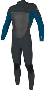 2020 Traje De Neopreno Con Chest Zip Epic 4/3mm Hombre O'neill 5354 - Gunmetal / Ultra Blue