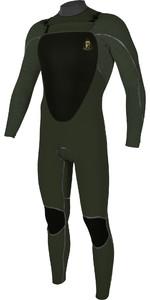 2020 O'Neill Mutant Legend 5/4 5/4+mm Wetsuit Met Chest Zip Capuchon 5369 - Spookgroen