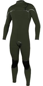 2020 O'Neill Mannen Psycho één 5/4mm Chest Zip Wetsuit 5428 - Ghost Groen