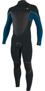 2020 Hommes De O'neill Psycho Tech 5/4+mm Chest Zip Combinaison 5365 - Gunmetal / Ultra Bleu