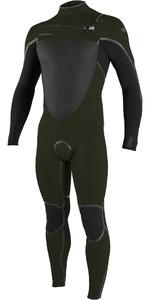 2020 Hommes O'neill Psycho Tech 5/4+mm Chest Zip Combinaison 5365 - Vert Fantôme / Noir