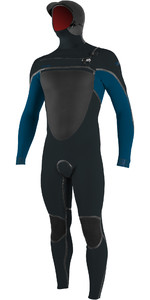 2020 Traje De Neopreno Con Capucha Y Chest Zip Psycho Tech 6/4 + Mm Para Hombre O'neill 5366 - Gunmetal / Ultra Blue
