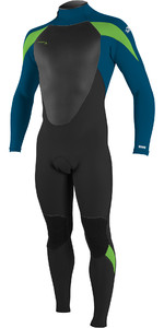 2020 O'Neill Youth Epic 4/3mm Back Zip GBS Wetsuit 4216BG - Black / Ultra Blu