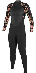 2020 O'Neill Youth Epic 4/3mm Back Zip GBS Wetsuit 4216BG - Black / Flo