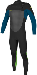 2021 O'Neill Youth Epic 4/3mm Chest Zip GBS Wetsuit 5358 - Black / Ultra Blute / Day Glow