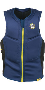 2020 Prolimit Mens Slider Impact Vest Half Padded FZ 63032 - Navy / Yellow