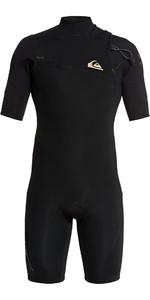 2020 Quiksilver Mannen 2mm Highline Lite Zipperless Shorty Wetsuit Eqyw503009 - Zwart