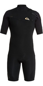 2021 Quiksilver Mens 2mm Highline Lite Zipperless Shorty Wetsuit EQYW503009 - Black