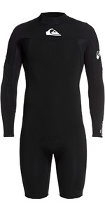 2021 Quiksilver Mens 2mm Syncro Back Zip Long Sleeve Shorty Wetsuit EQYW403013 - Black