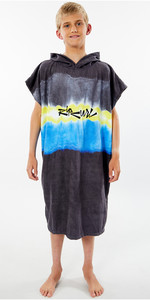 2020 Rip Curl Mix Up Poncho De Bata De Cambio Junior Ktwah9 - Negro / Amarillo
