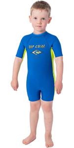 2020 Rip Curl Toddler Boys Omega 1.5mm Back Zip Shorty Wetsuit WSP8BK - Blue