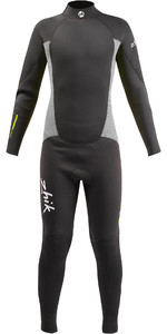 2020 Zhik Junior 3/2mm Back Zip Gbs Wetsuit Stm0200 - Antracita
