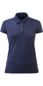 2020 Zhik Womens ZhikDry LT Short Sleeve Polo Top Navy ATP0870W