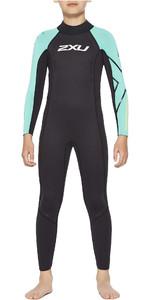 2021 2XU Junior Propel Triathlon Wetsuit CW6569c - Black / Oasis