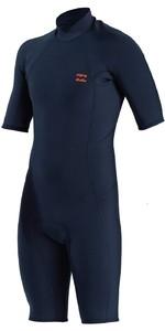 2021 Billabong Mens Absolute 2mm Shorty Wetsuit MWSP3BAB - Slate Blue