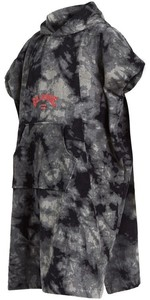 2020 Billabong Changing Robe / Poncho U4BR10 - Black Tie Dye