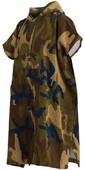 2020 Billabong Changer Robe / Poncho U4br10 - Militaire