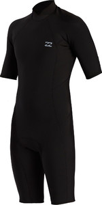 2021 Billabong Mens Absolute 2mm Back Zip Shorty Wetsuit W42M72 - Black