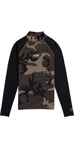 2021 Billabong Mens Contrast Long Sleeve Rash Vest W4MY10 - Camo