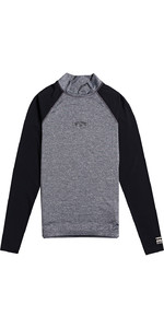 2021 Billabong Mens Contrast Long Sleeve Rash Vest W4MY10 - Grey Heather