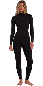 2021 Billabong Feminino Salty Dayz 4/3 4/3mm Chest Zip Wetsuit W44g50 - Preto