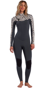 2021 Billabong Frauen Salty Dayz 4/3mm Chest Zip Neoprenanzug W44g50 - Leopard
