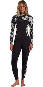 2021 Billabong Womens Salty Dayz 4/3mm Chest Zip Wetsuit W44G50 - Maui Black