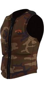 2021 Billabong Mens Pro Wake Vest ABYWP00105 - Military Camo Neo
