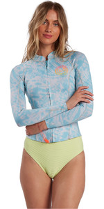 2021 Billabong Womens Peeky Jacket 2mm Wetsuit Top W42G56 - Island Blue Neo