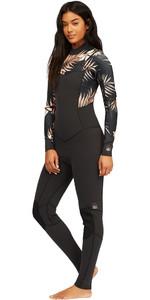 2021 Billabong Womens Salty Dayz 4/3mm Chest Zip Wetsuit Z44G10 - Black Pebble