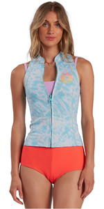 2021 Billabong Womens Salty Dayz 1mm Wetsuit Vest W41G59 - Island Blue Neo