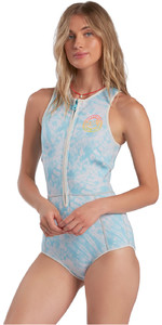 2021 Billabong Womens Sol Sistah 1mm Shorty Spring Wetsuit ABJW500101 - Island Blue Neo
