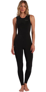 2021 Billabong Frauen Sol Sistah 2mm Long Jane Wetsuit W42g51 - Schwarz