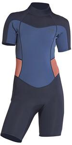 2021 Billabong Womens Synergy 2mm Shorty Wetsuit H42G04 - Slate