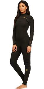 2021 Billabong Mujer Synergy 5/4mm Chest Zip Z45g14 - Teñido Anudado Negro