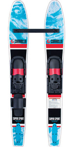 2021 Connelly Junior Supersport Slide-Type Réglable Skis Nautiques 61210306 - Noir / Bleu