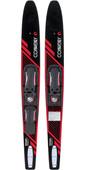 2021 Connelly Voyage Slide-Typ Verstellbare Combo-Wasserski 61200312 - Schwarz / Rot
