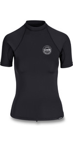 2020 Dakine Damen Flow Snug Fit Rash Vest D10002332 - Schwarz